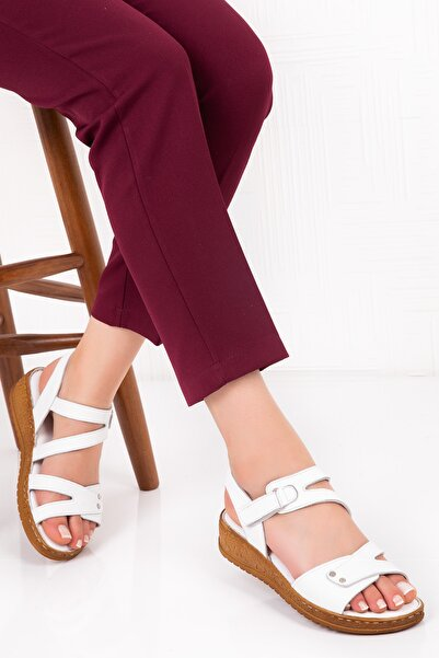 Gondol Hakiki Deri Anatomik Taban Sandalet