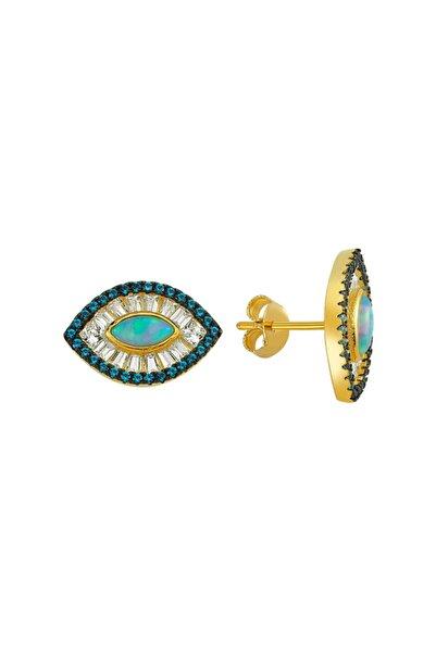 Luzdemia G. Opal Küpe 925 - 5 - Gold