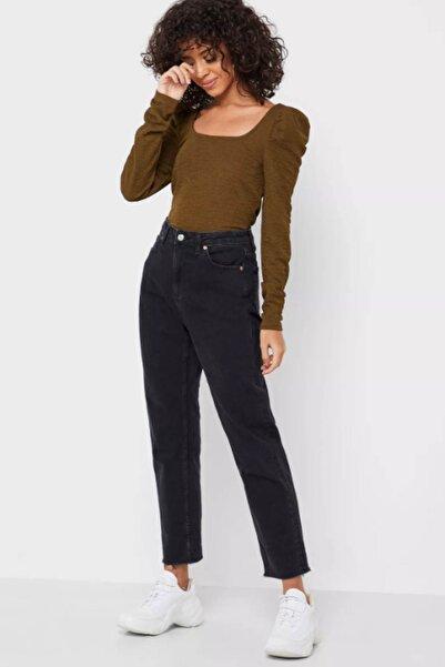 Vero Moda Kadın Haki Kare Yaka Omuz Detaylı Bluz 10230992 VMALPHA