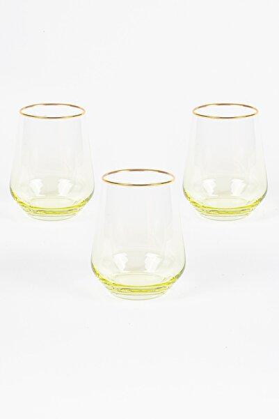 Rakle Harmoni 3'lü Su Bardağı Seti Sarı 425 cc