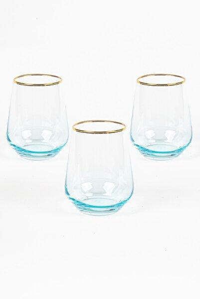 Rakle Harmoni 3'lü Su Bardağı Seti Mavi 425 cc