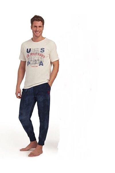U.S. Polo Assn. Erkek Pijama Takım - Ekru