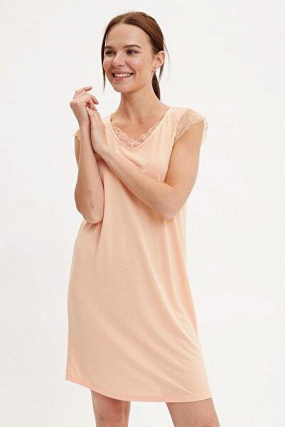 Kadın Turuncu Basic Regular Fit Gecelik R2769AZ.20SM.OG325