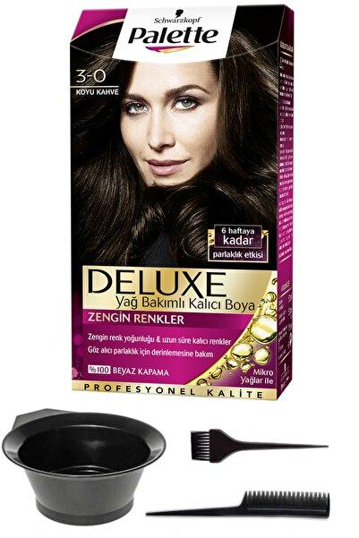 SCHWARZKOPF HAIR MASCARA Palette Deluxe 3-0 Koyu Kahve Saç Boyası Ve Saç Boyama Seti
