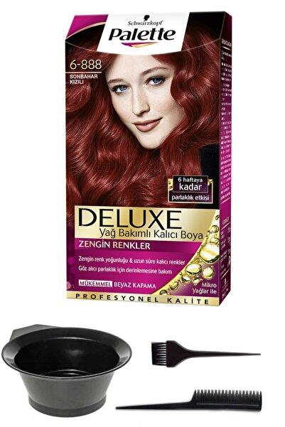 SCHWARZKOPF HAIR MASCARA Palette Deluxe 6-888 Sonbahar Kızılı Saç Boyası Ve Saç Boyama Seti