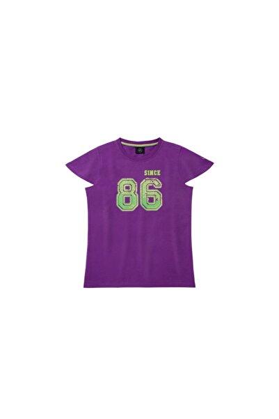 MERCEDES Kız Çocuk Mor T-shirt