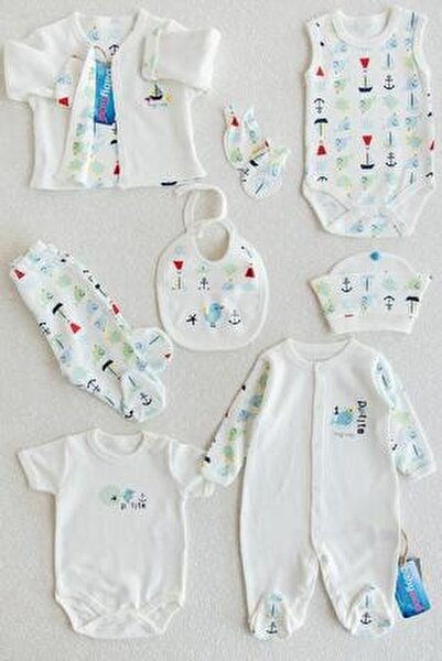 Denizci Erkek Bebek Hastane Çıkışı Bebek Takımı