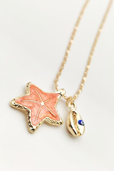 Lolita Takı Kadın Deniz Yıldızı Kolye Oranj Renk