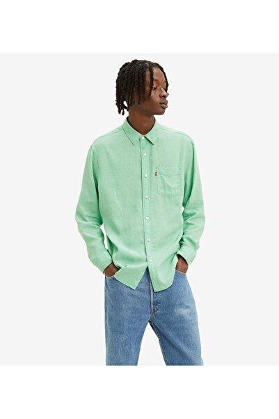 Levi's Erkek Yeşil Gömlek Sunset 1 Pocket Standard Button Down Shirt