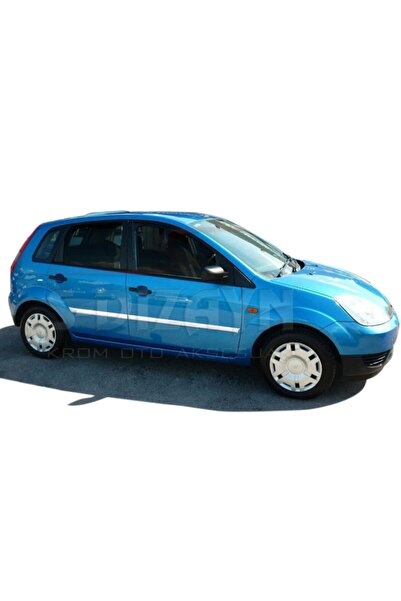 S Dizayn Ford Fiesta Krom Yan Kapı Çıtası 4 Prç 2002-2006