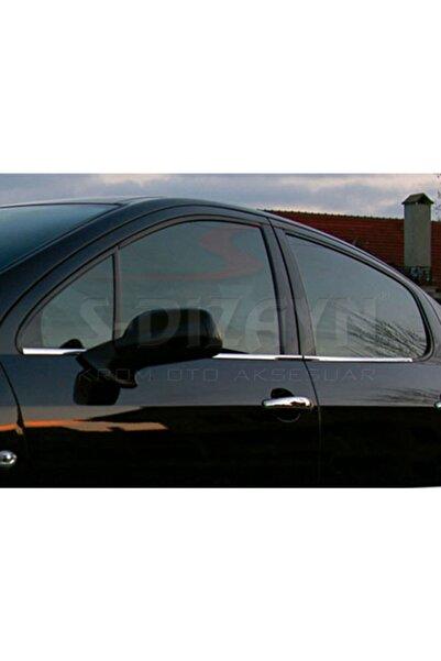 S Dizayn Peugeot 407 Krom Cam Çıtası 4 Prç 2004-2010
