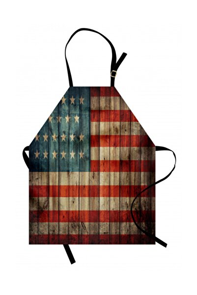 Orange Venue Ülkeler Ve Şehirler Mutfak Önlüğü Amerikan Temalı Bayrak