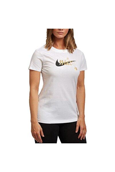 Nike Kadın Beyaz Tişört Cj7913-100 Sport Charm