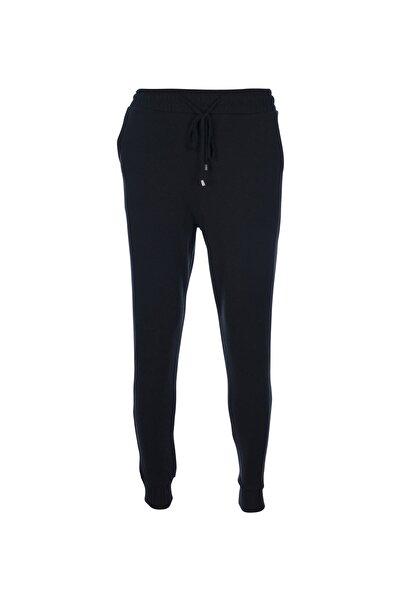 STAMINA Kadın Siyah Beli Bağcıklı Lastikli Cepli Pantolon