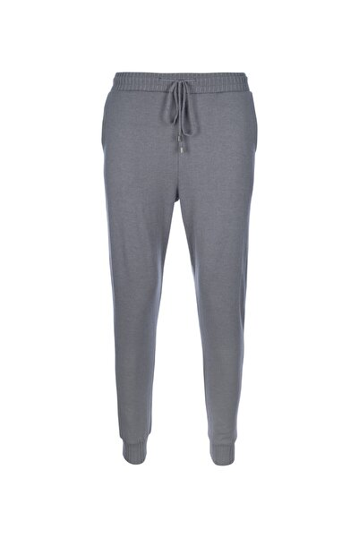 STAMINA Kadın Gri Bağcıklı Lastikli Cepli Pantolon