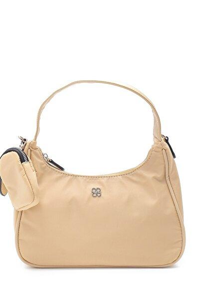 Derimod Kadın Bej Bozuk Para Cüzdanlı Baget Çanta