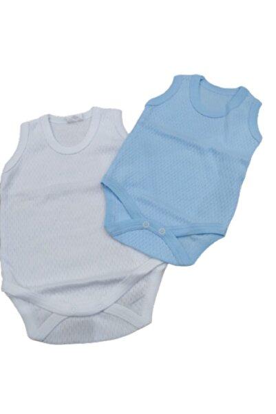 Puki Erkek Bebek Mavi 2li Bebek Çıtçıtlı Badi