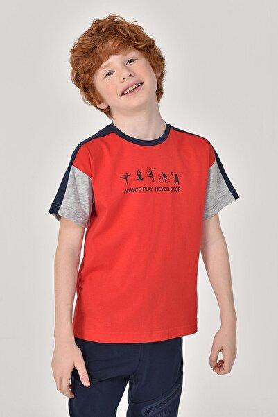 bilcee Kırmızı Erkek Çocuk T-Shirt GS-8178