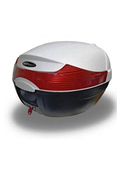 MEFATECH Motorsiklet Topkase Beyaz  Çanta 33 lt