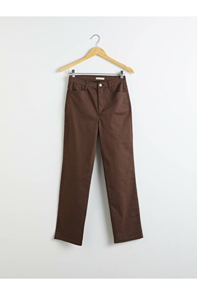 LC Waikiki Kadın Kahverengi Pantolon