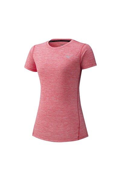 MIZUNO Kadın Pembe Kısa Kollu Spor T-Shirt