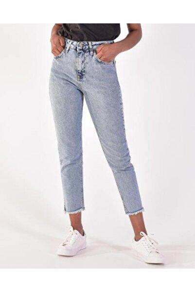 Vision Kadın Mavi Paça Detaylı Jean