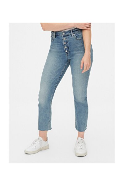 GAP Kadın Mavi High Rise Cigarette Jean Pantolon