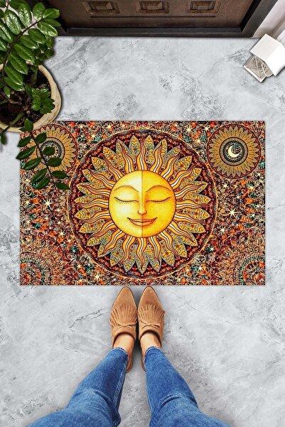 Evsebu Gülen Güneş Dekoratif Kapı Önü Paspası