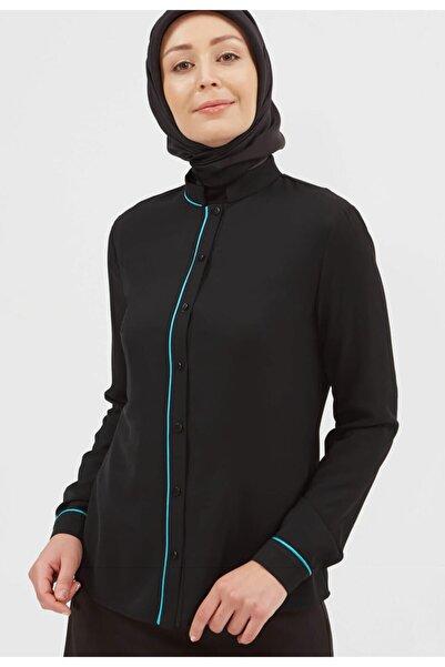 Setrms Kadın Siyah Klasik Biyeli Bluz