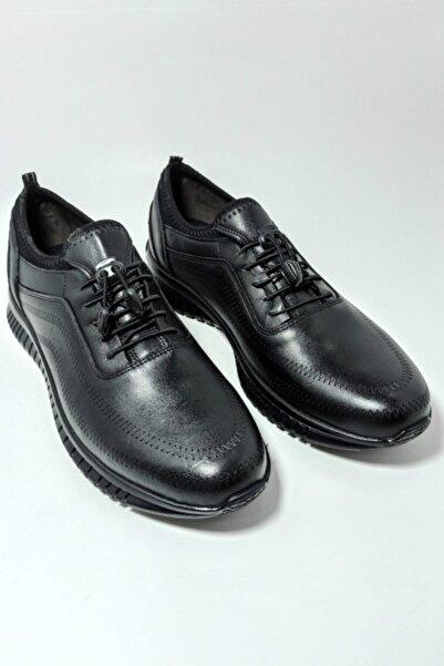 Master Erkek Siyah Deri Ayakkabı