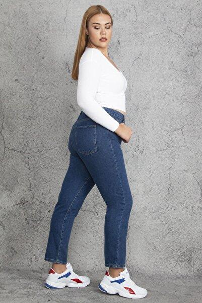 Şans Kadın Lacivert 5 Cepli Kot Pantolon 65N19229