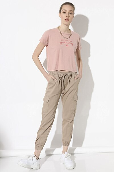 Arma Life Kadın Camel Kargo Cep Pantolon