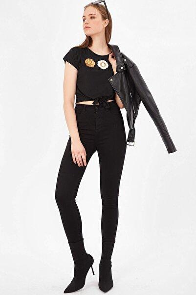 Arma Life Kadın Siyah Yüksek Bel Basic Pantolon