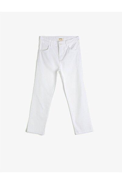 Koton Kids Beyaz Erkek Çocuk Pantolon