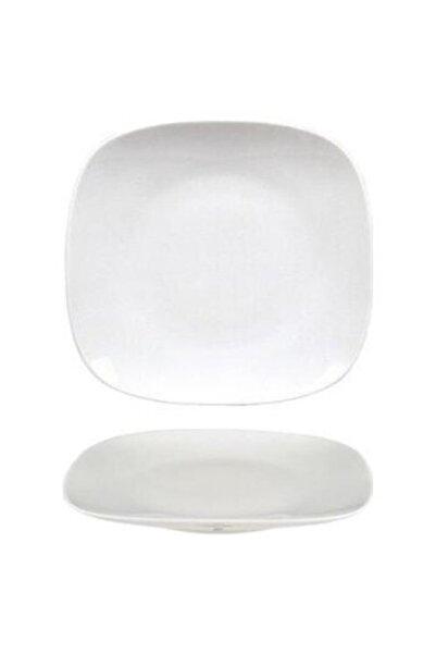 Evren Unisex Beyaz Kare Thermo Kırılmaz Tabak 27 cm