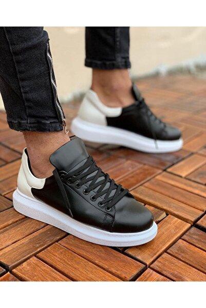 Chekich Erkek Siyah Beyaz Ayakkabı  Ch256 Bt