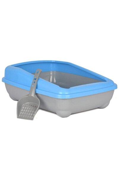 Markapet Kedi Tuvalet Kum Kabı 50/37/13.5 Cm Açık Mavi + Kürek Hediye