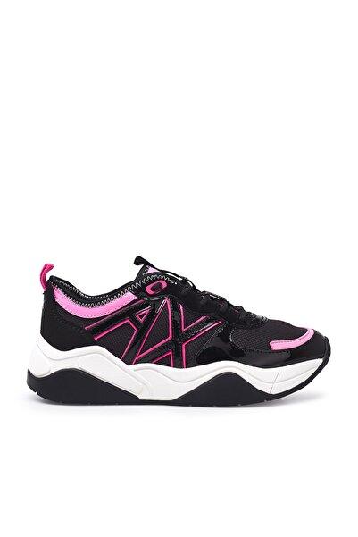 Armani Exchange Kadın Siyah Fuşya Ayakkabı