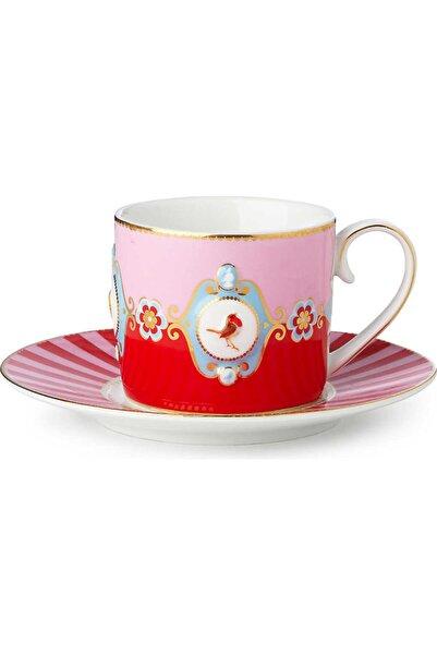 Pip Studio Love Bird Kırmızı/pembe Madalyon Desenli Çay Fincanı 200 Ml