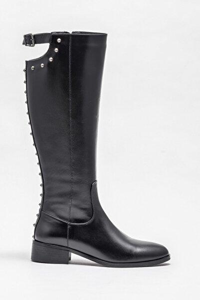 Elle Shoes Kadın Branca Sıyah Çizme 20K007