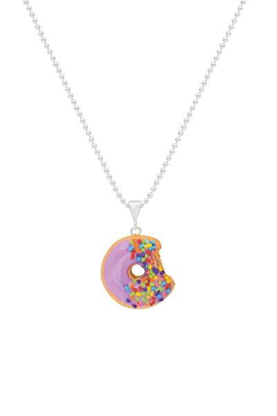 Tres Jolie Lollie Kız Çocuk Gümüş Kolye El Yapımı Donut