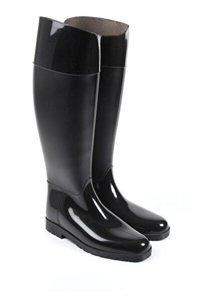 Sapin Kadın Siyah Yağmur Çizmesi 33002