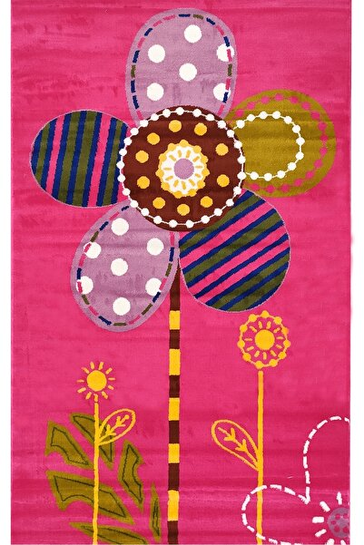 Payidar Halı Kids Amigo 8509a Renkli Papatya Desenli Çocuk Halısı