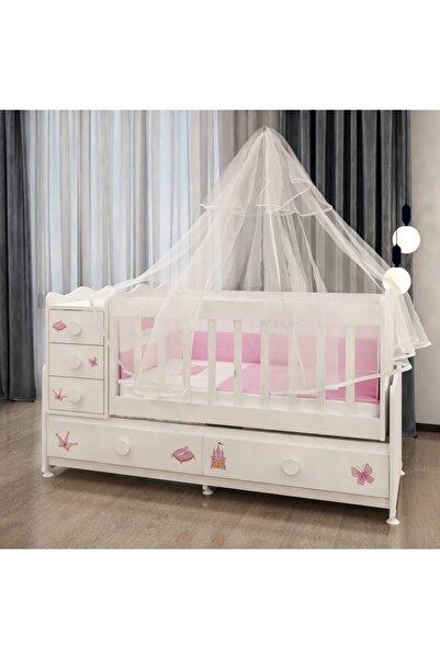 Garaj Home Melina Prenses Uyku Setli Beşik Kombini