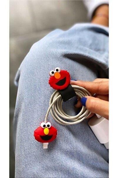 Telehome Kablo Toparlayıcı Ve Koruyucu Sevimli Elmo 2'li Set