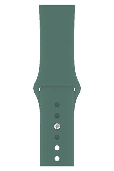 Fibaks Apple Watch 44mm A+ Yüksek Kalite Spor Klasik Silikon Kordon Kayış Bileklik