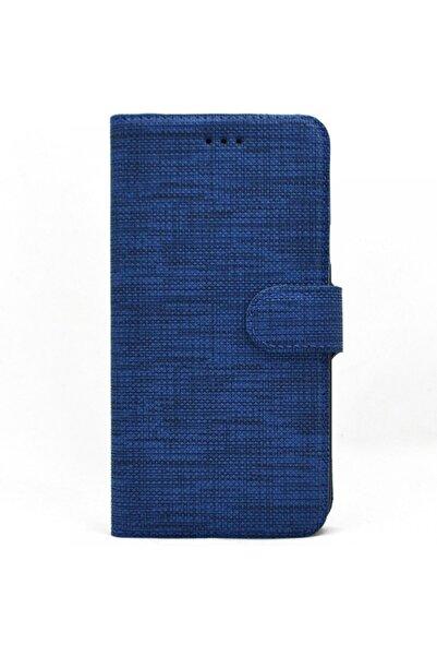 Huawei Teleplus Mate 10 Lite Kılıf Kumaş Spor Standlı Cüzdan Lacivert