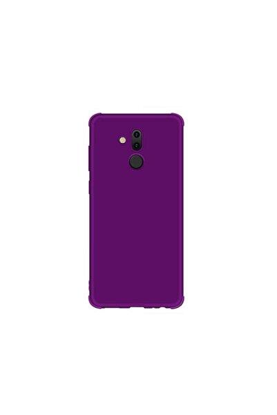 Huawei Teleplus Mate 20 Lite Mat Neva Silikon Kılıf Mor + Nano Ekran Koruyucu