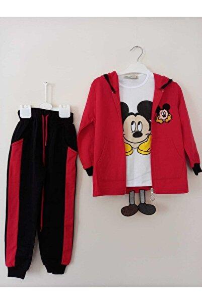 Mickey Mouse Unisex Çocuk Kırmızı Mickey 3'lü Takım
