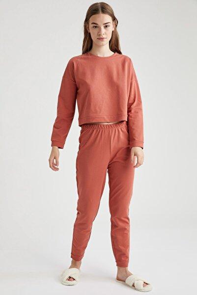 DeFacto Fit Kadın  Orange Crop Sweatshirt Ve Jogger Eşofman Altı Takım T1430AZ20WN